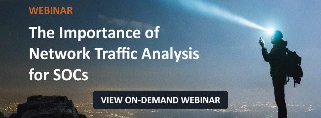 On-demand Webinar Importance of NTA for SOCs